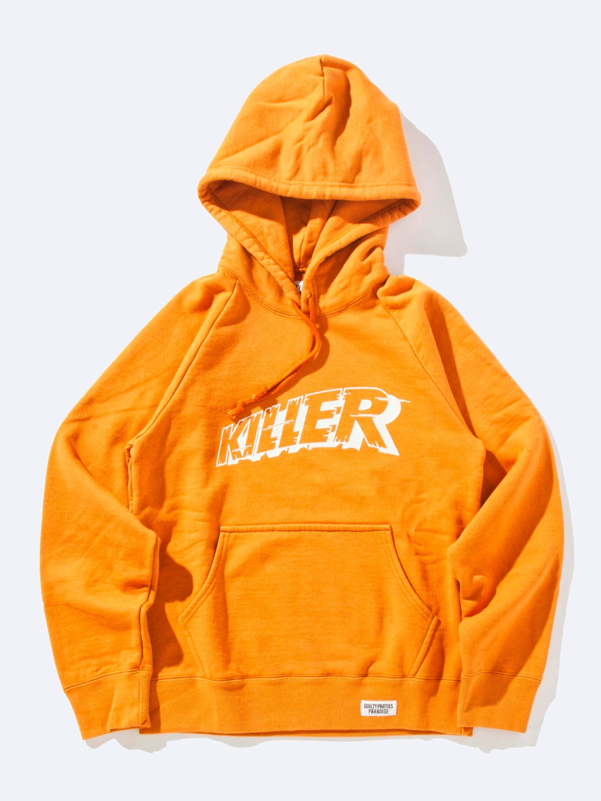 Orange Washed Heavy Weight Pullover Hooded Sweatshirt (Type-3) 1