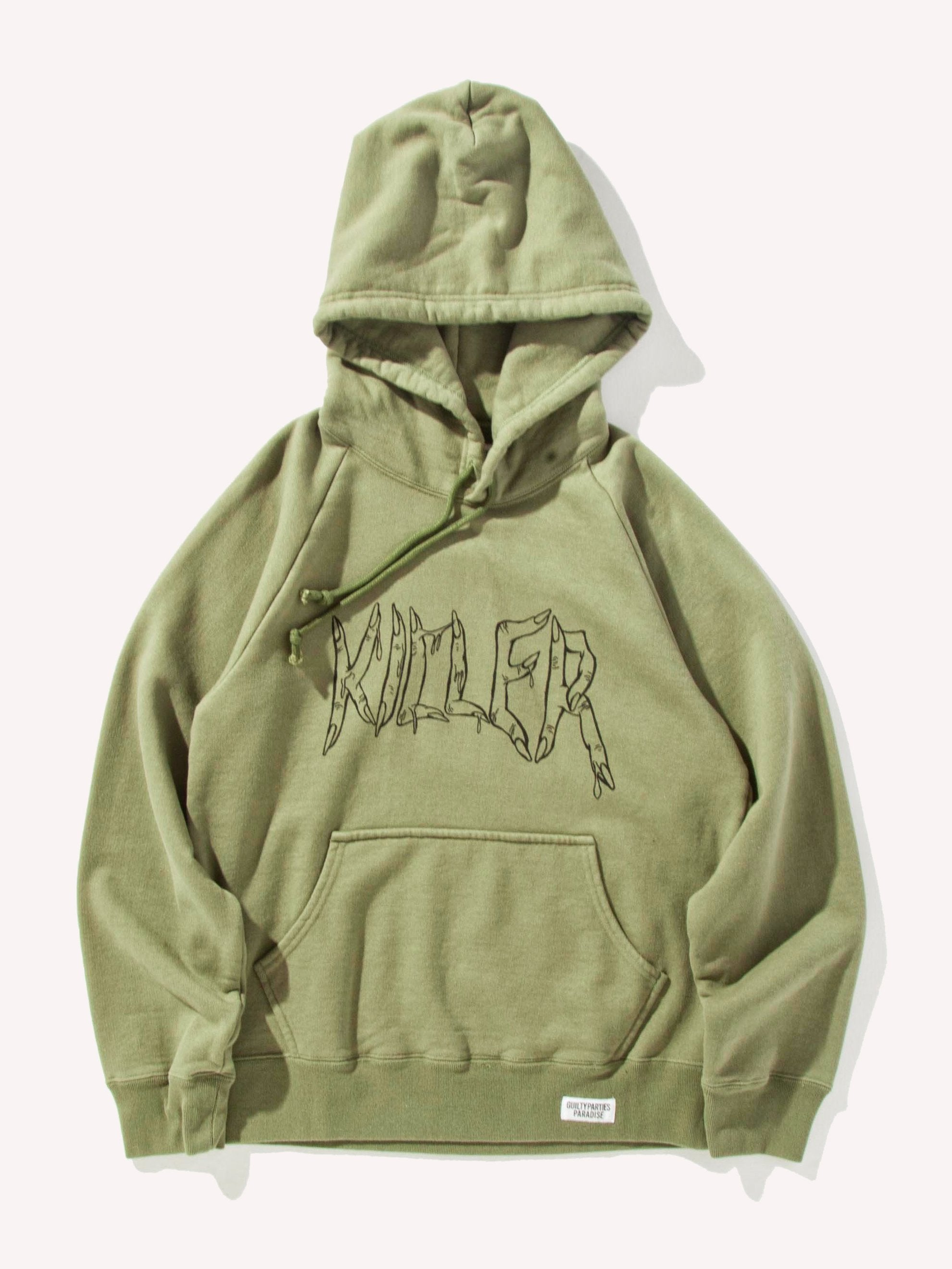 Green Washed Heavy Weight Pullover Hooded Sweatshirt (Type-4) 1