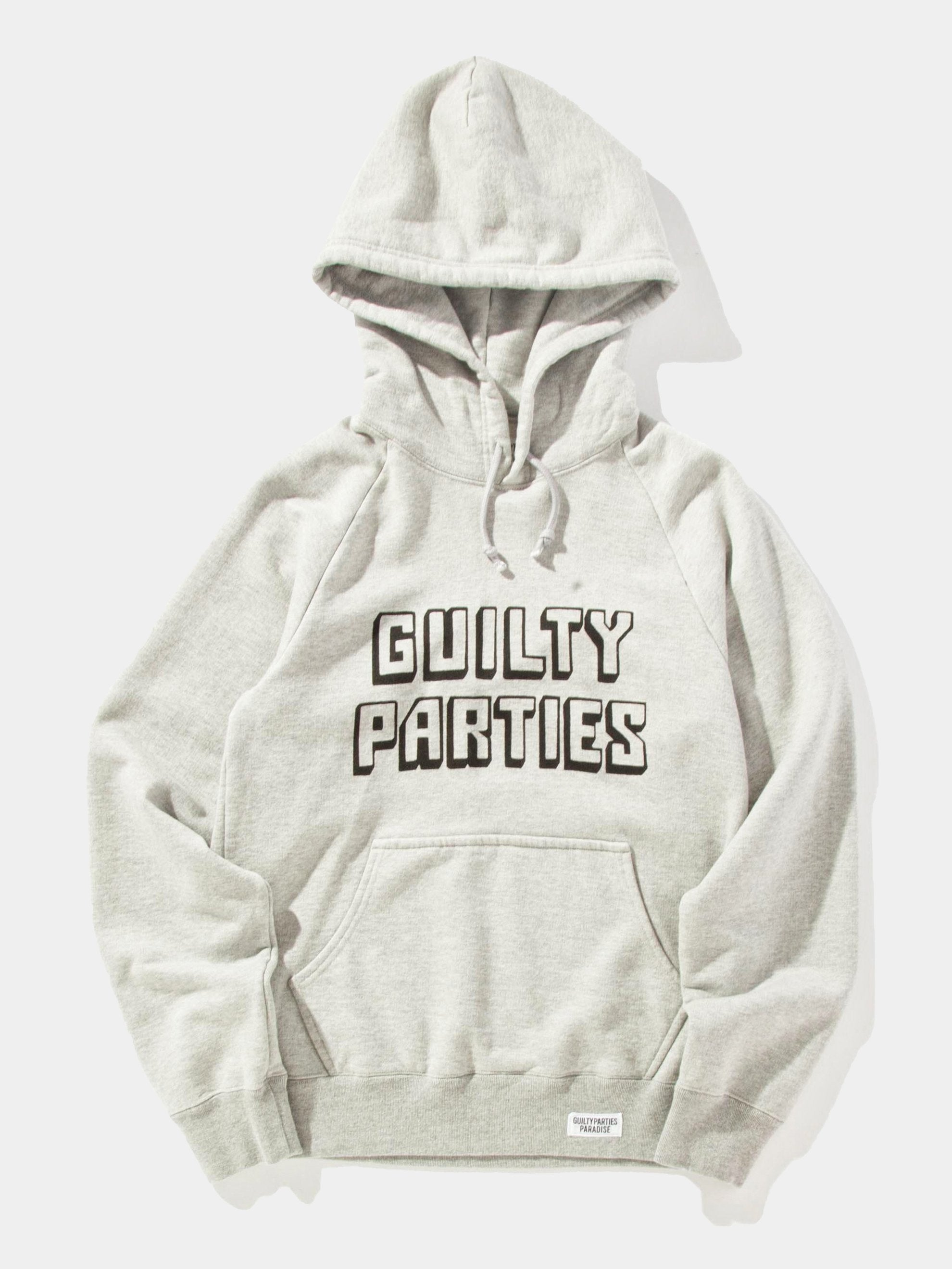 Grey Washed Heavy Weight Pullover Hooded Sweatshirt (Type-2) 1