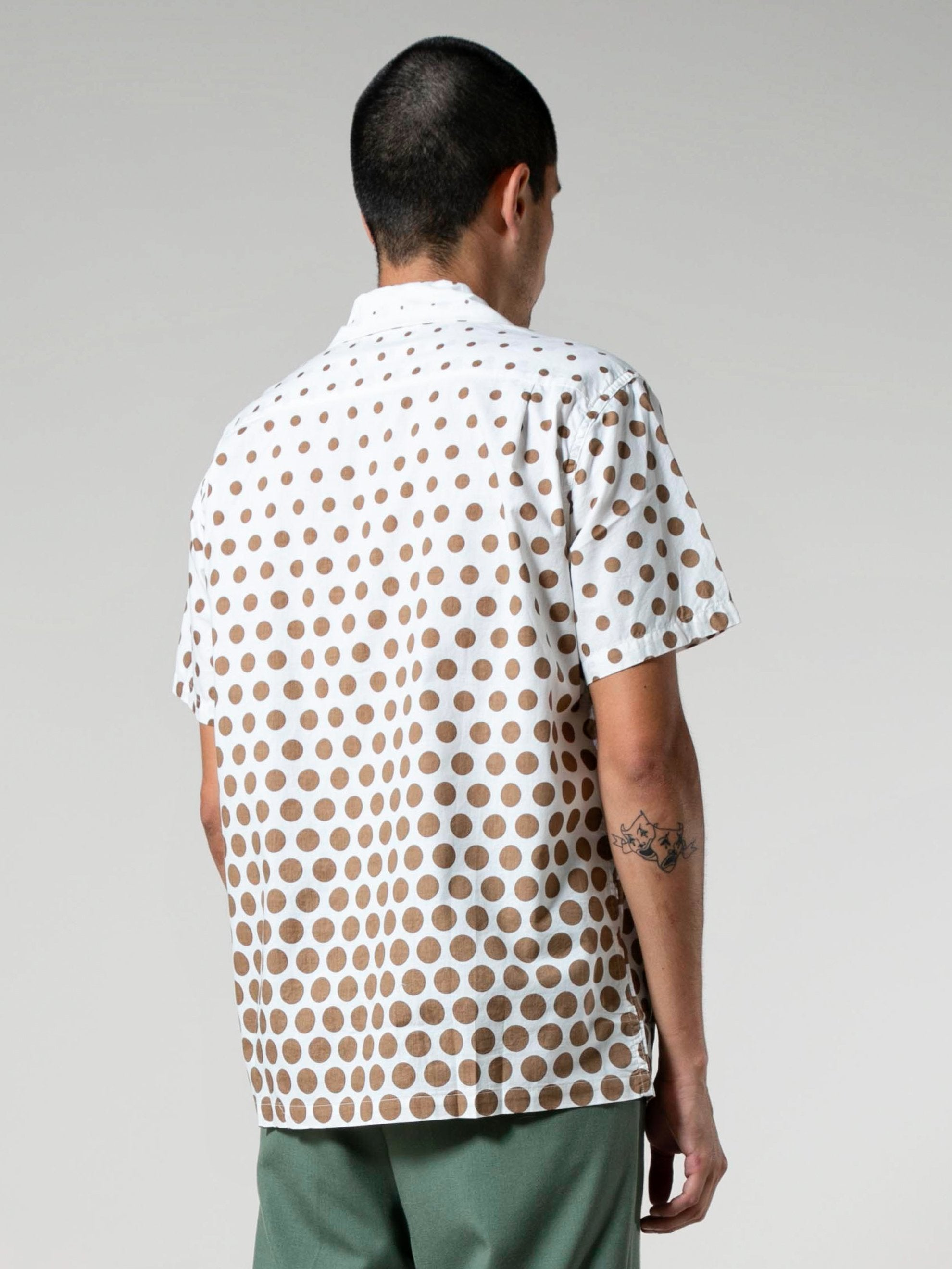 Gradation Dots Italian Collar Shirt