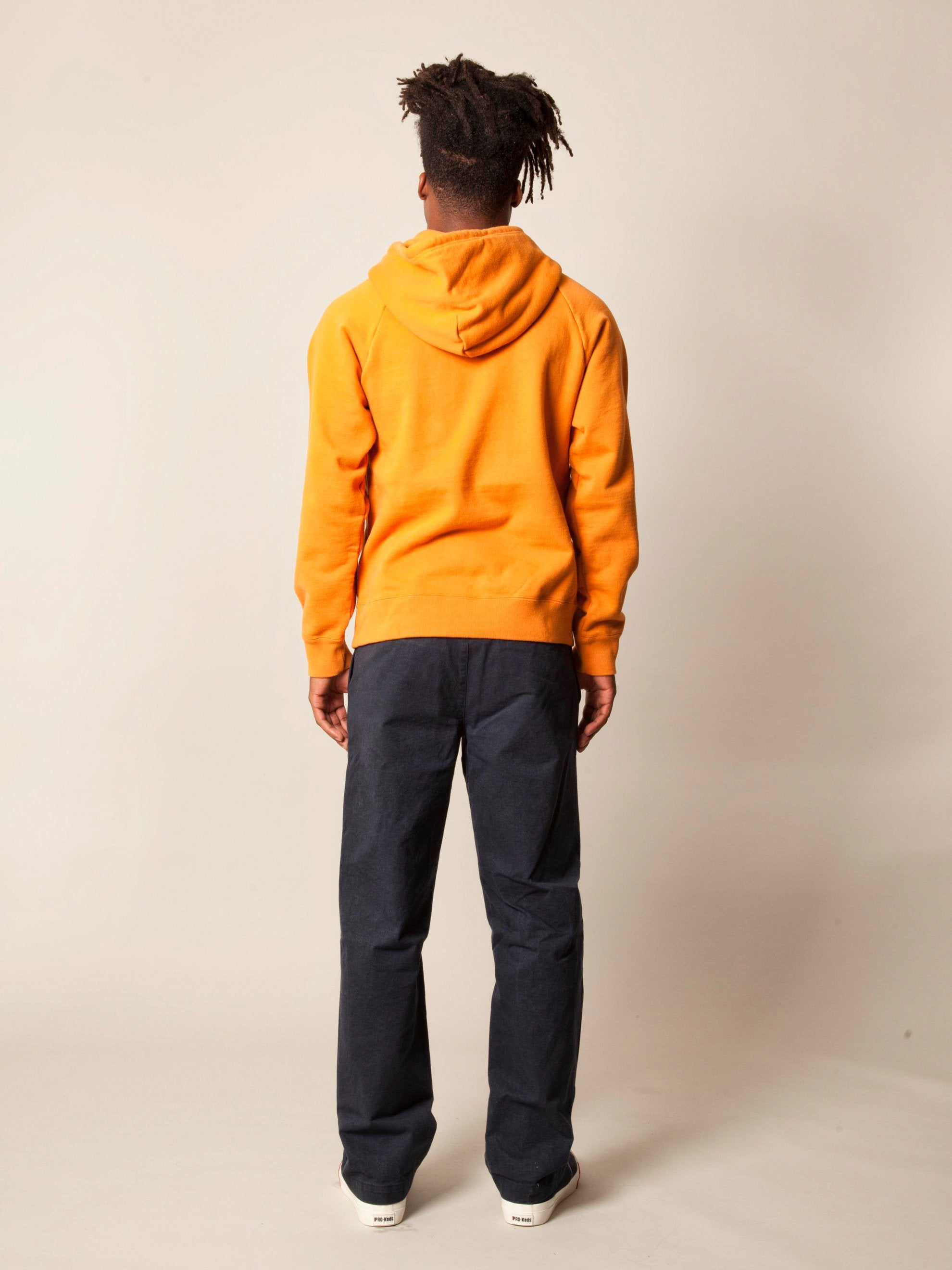 Orange Washed Heavy Weight Pullover Hooded Sweatshirt (Type-3) 5