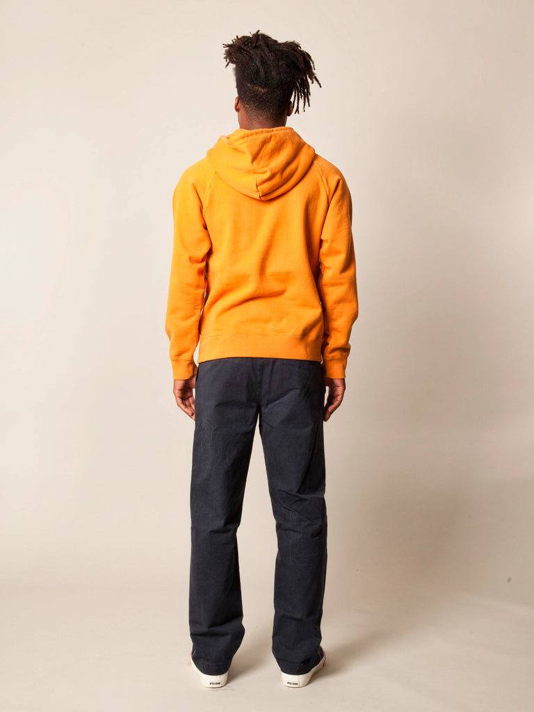 Orange Washed Heavy Weight Pullover Hooded Sweatshirt (Type-3) 5481463271433