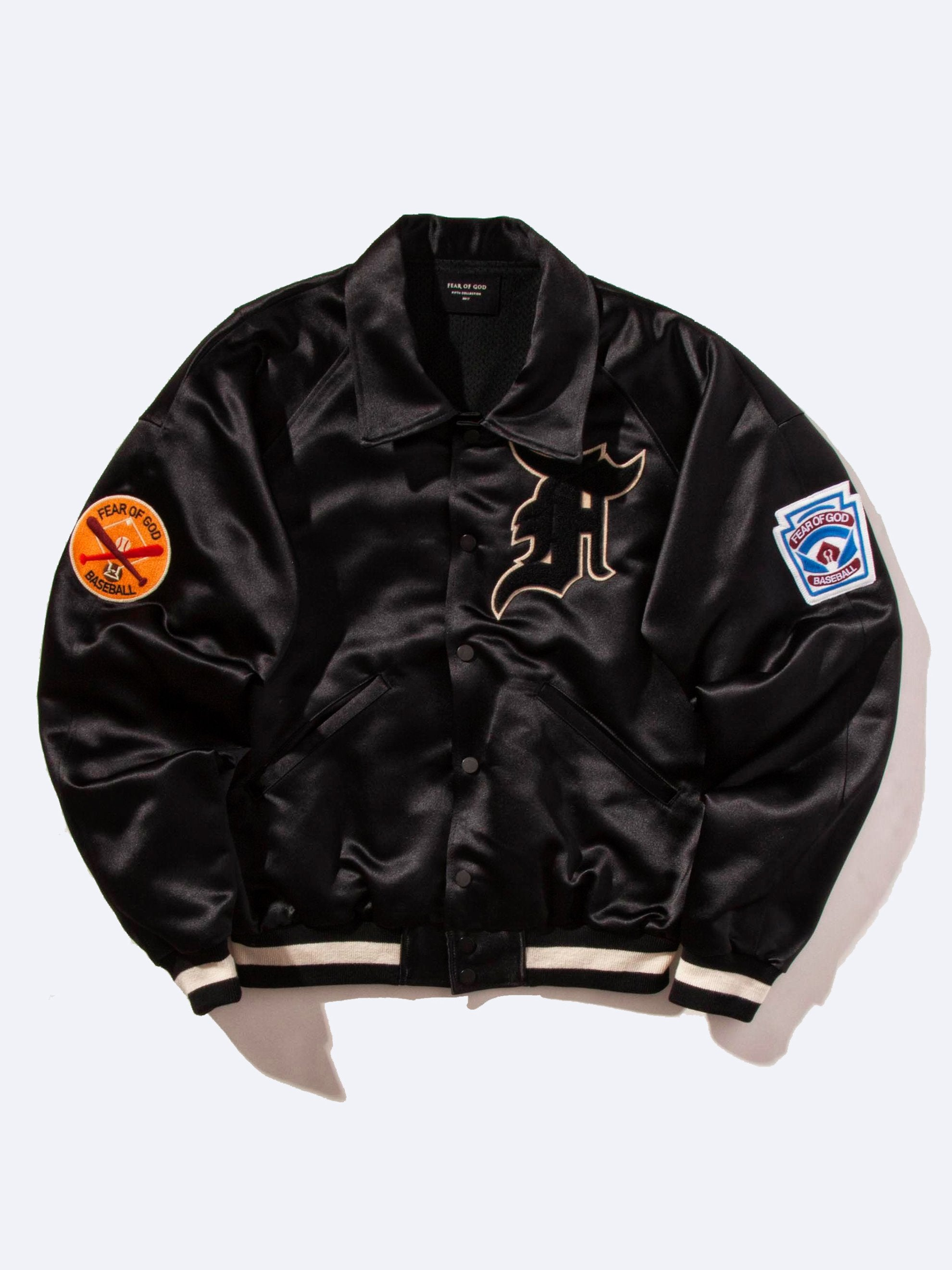 Satin Manuel Baseball Coaches Jacket