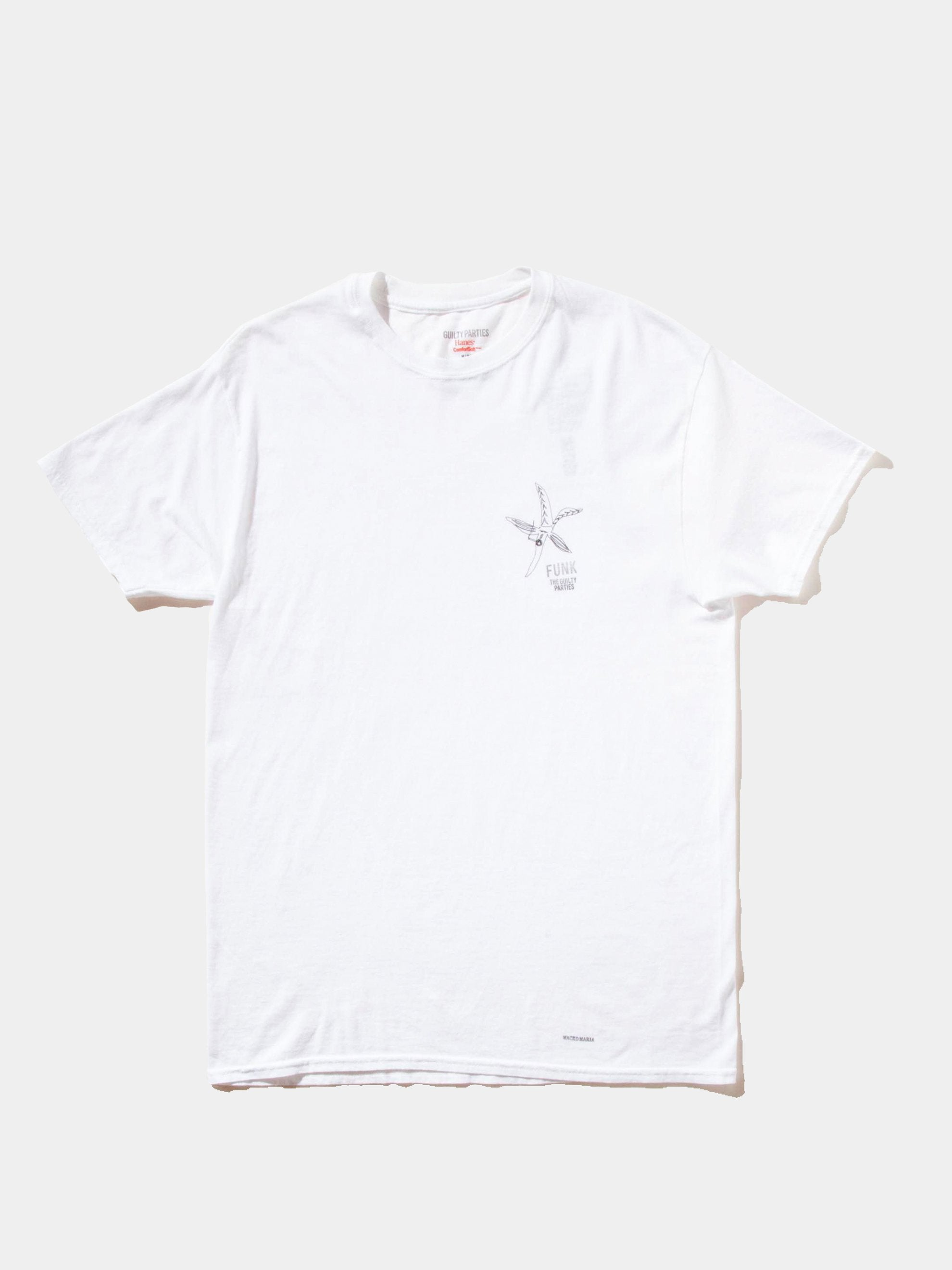 White Souvenior Crew Neck T-Shirt (Type 5) 1