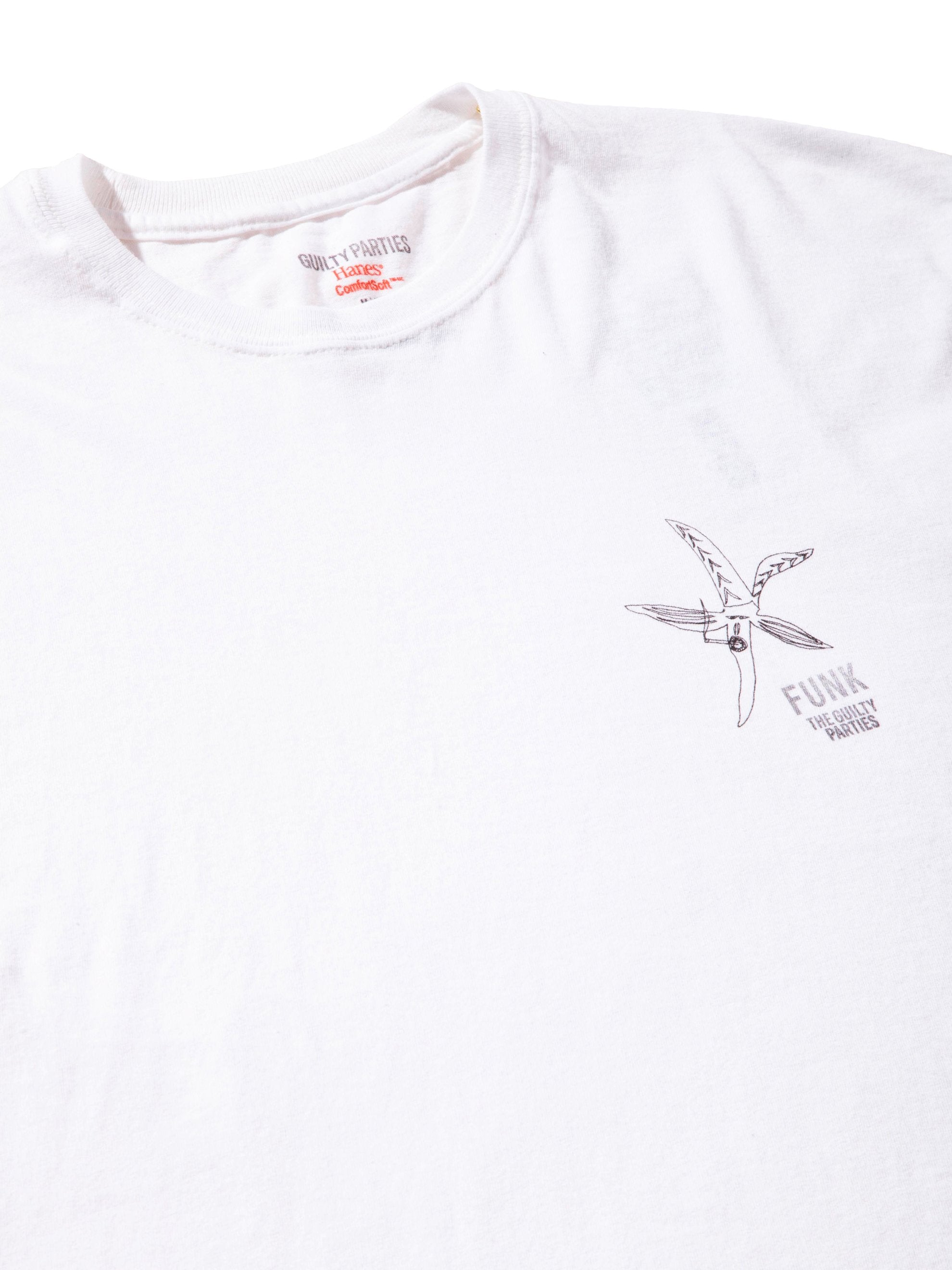 White Souvenior Crew Neck T-Shirt (Type 5) 4