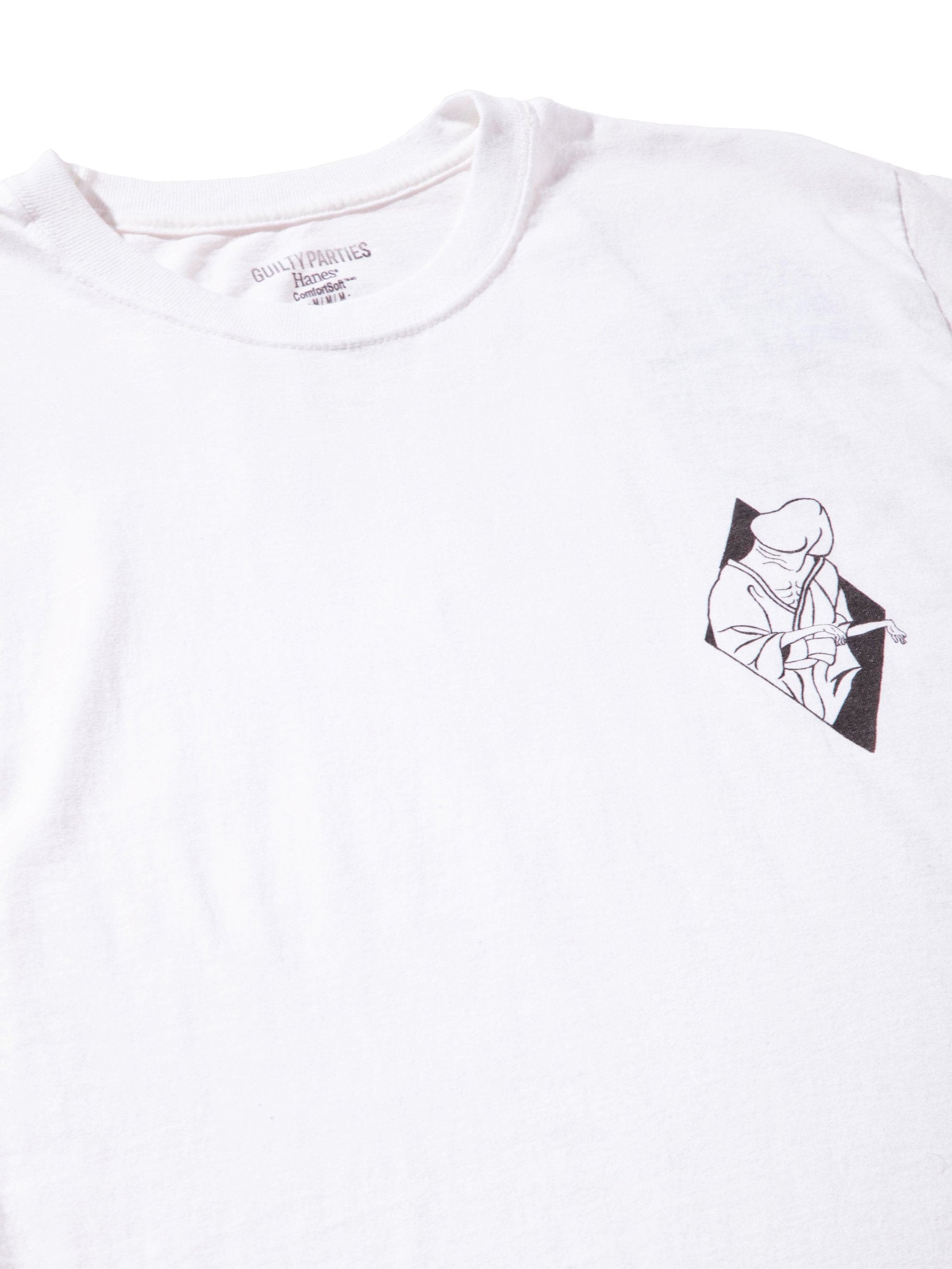 White Souvenior Crew Neck T-Shirt (Type 6) 4