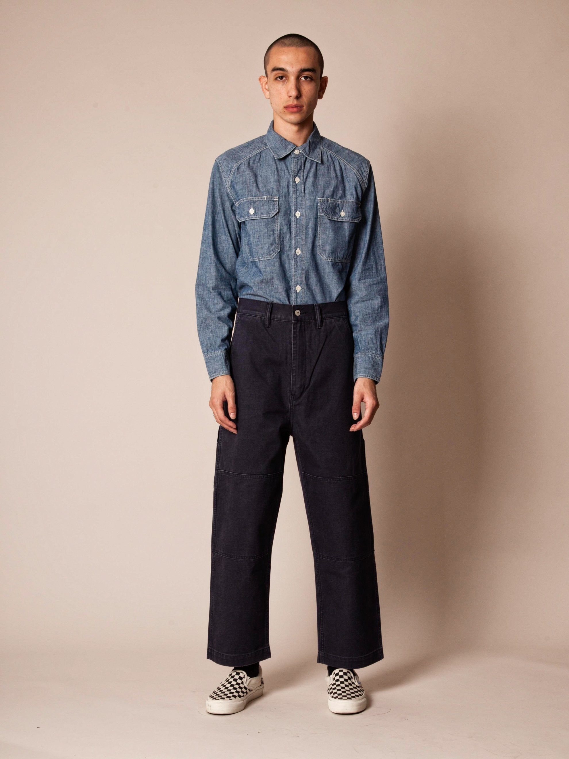 Navy Armstrong Trousers (Duck) 2