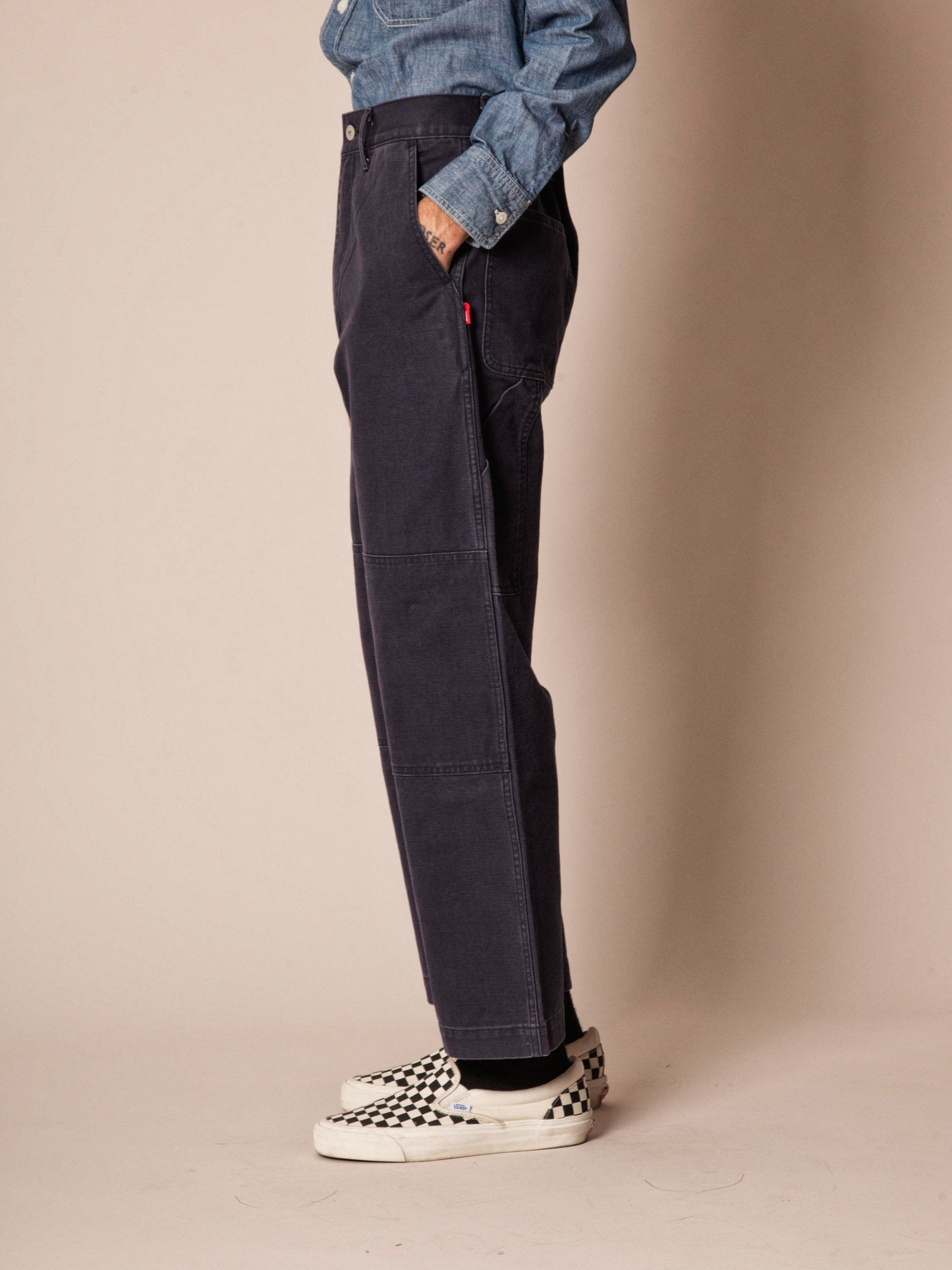Navy Armstrong Trousers (Duck) 4