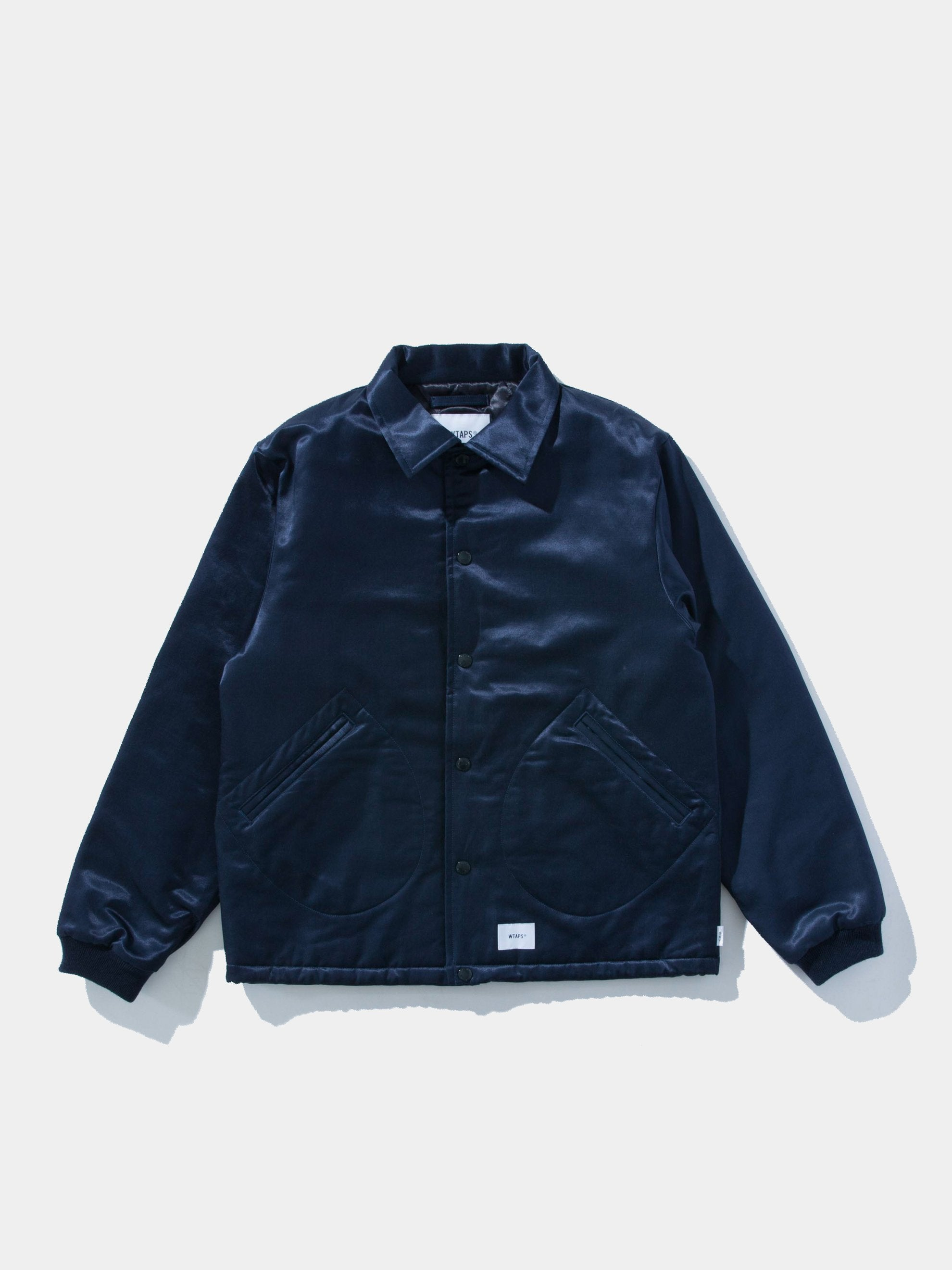 Navy Satin Coaches Jacket 1