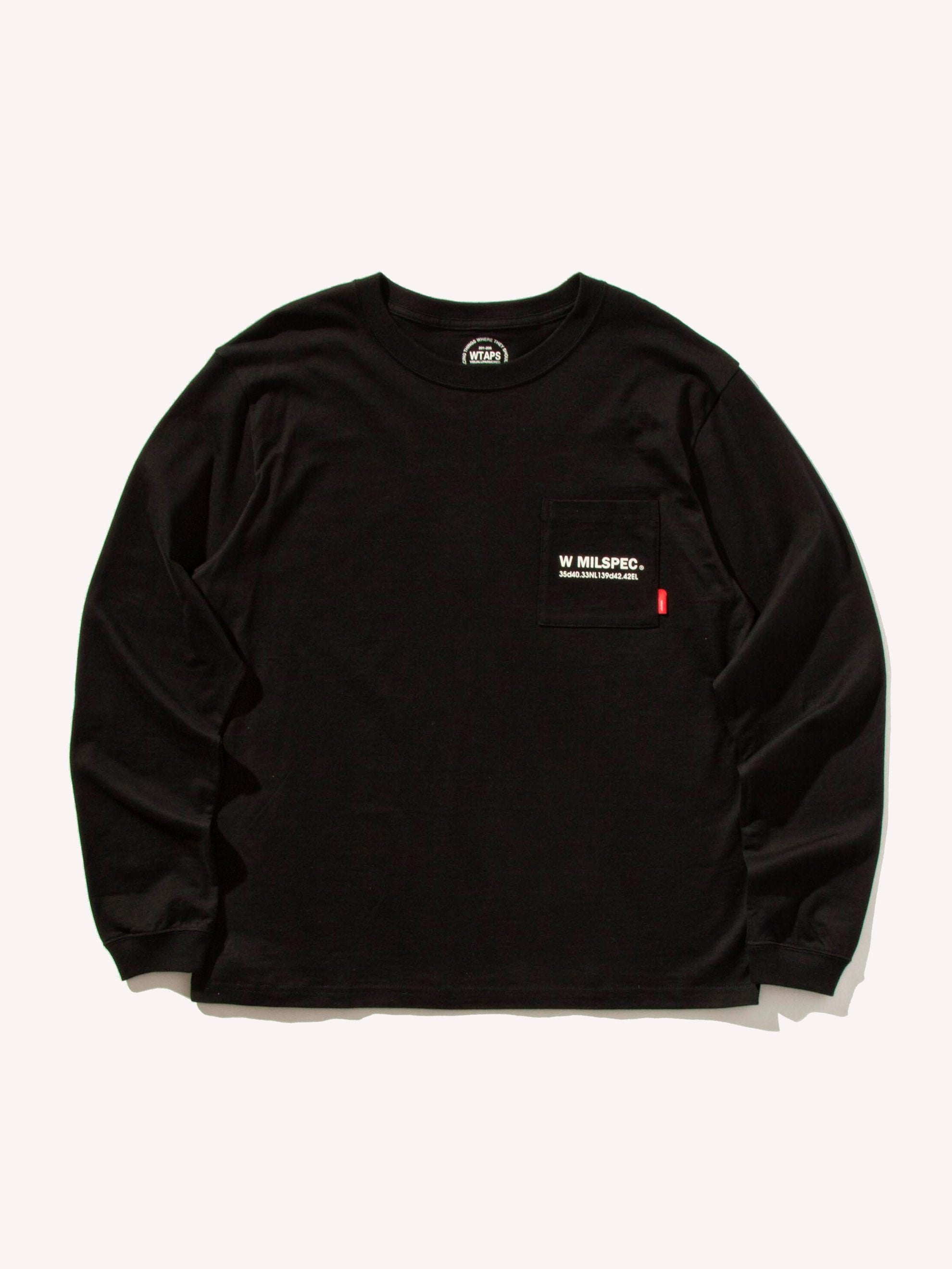Black W Mil Long Sleeve T-Shirt 7