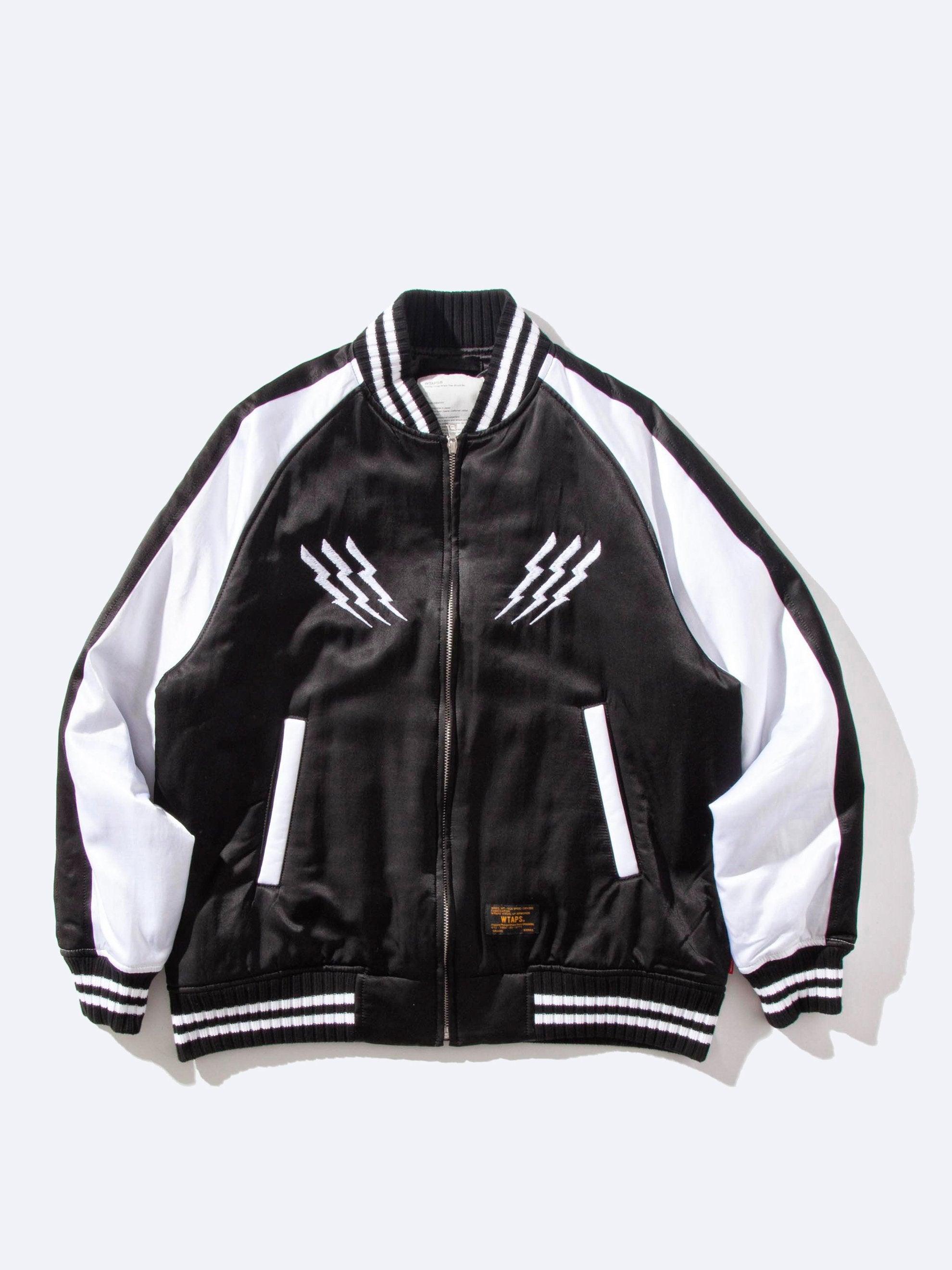 Black V=A Satin Jacket 1