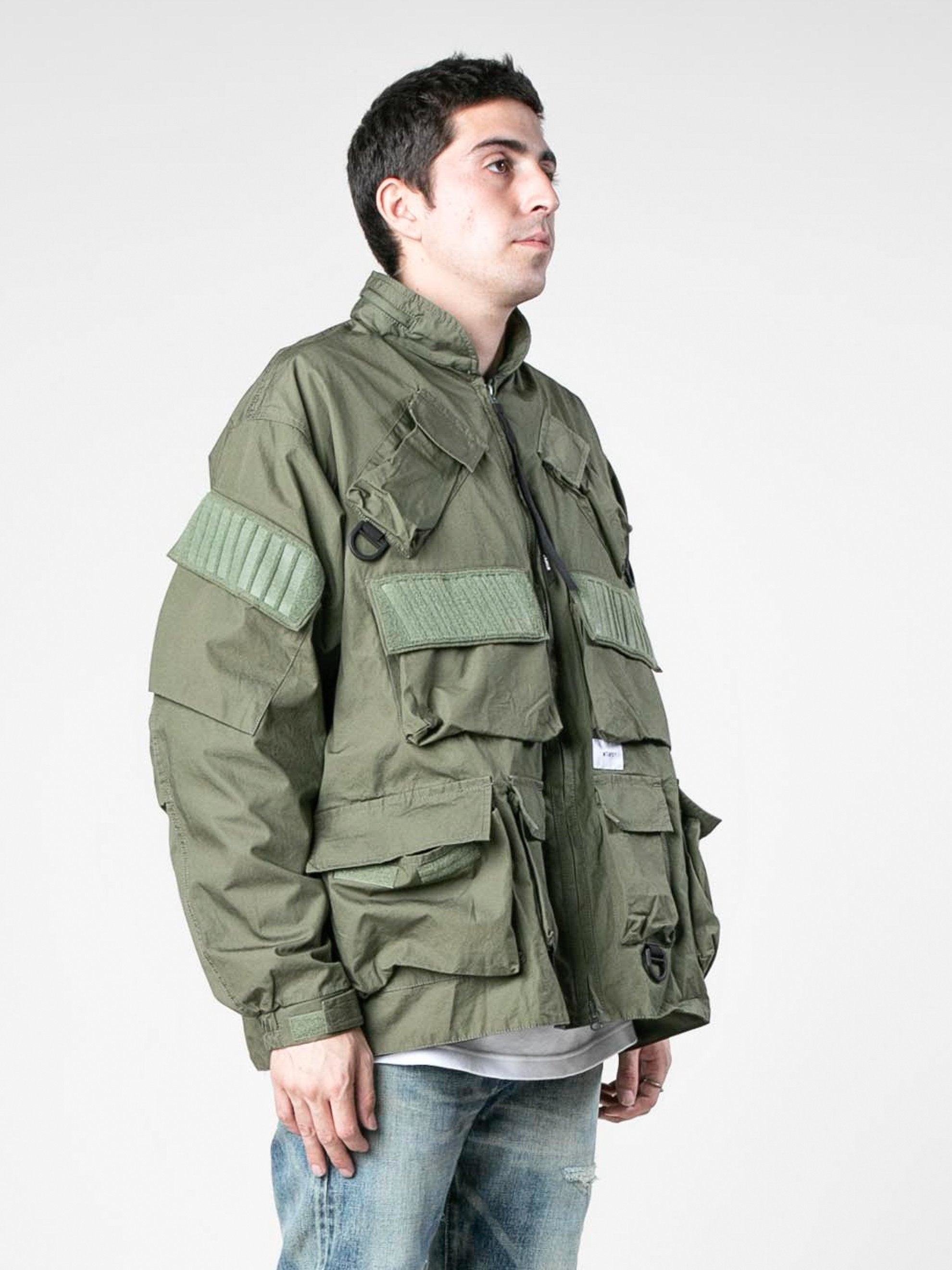 Olive Drab Modular / Jacket. Cotton. Weather 4