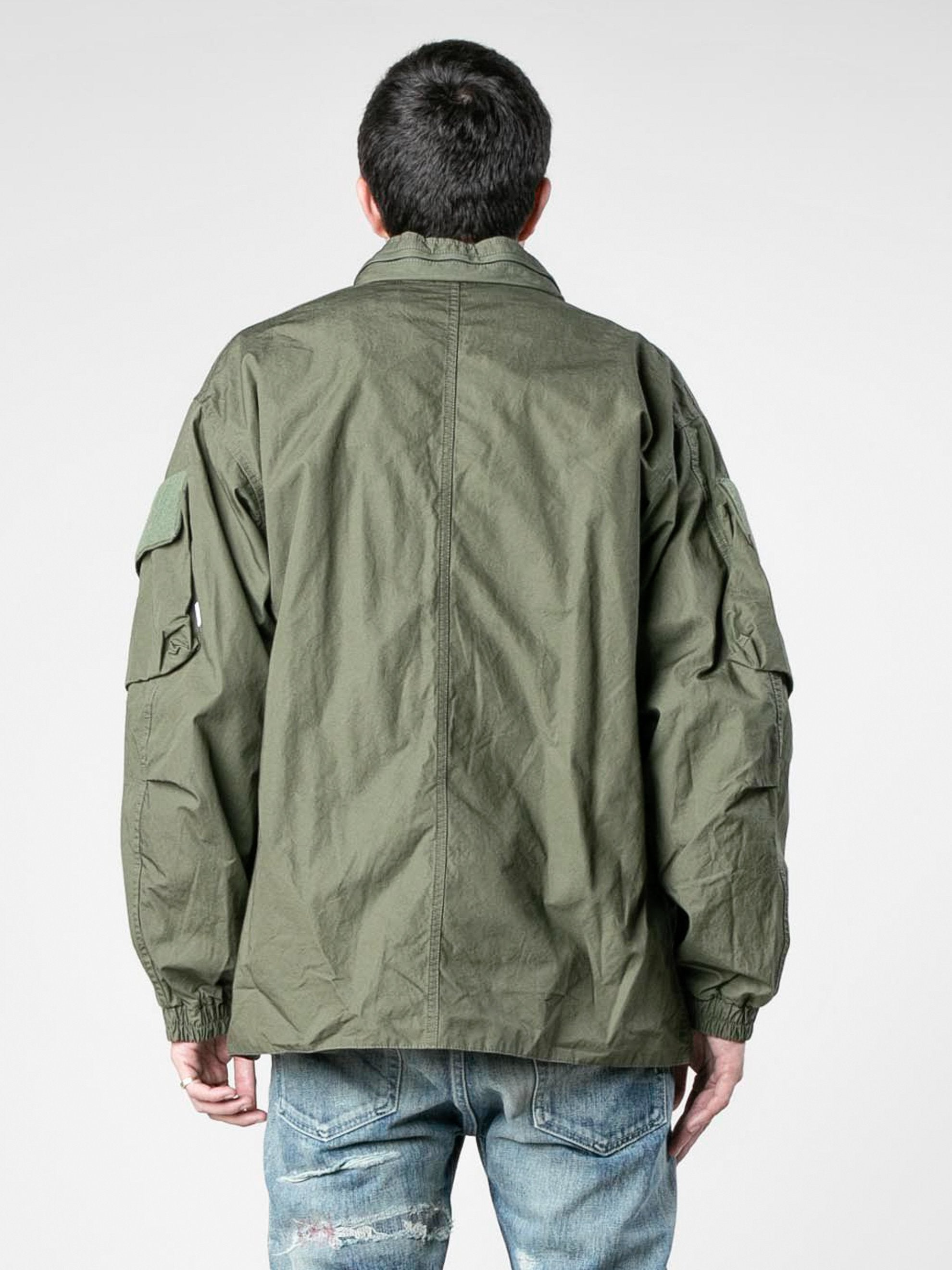 Olive Drab Modular / Jacket. Cotton. Weather 6