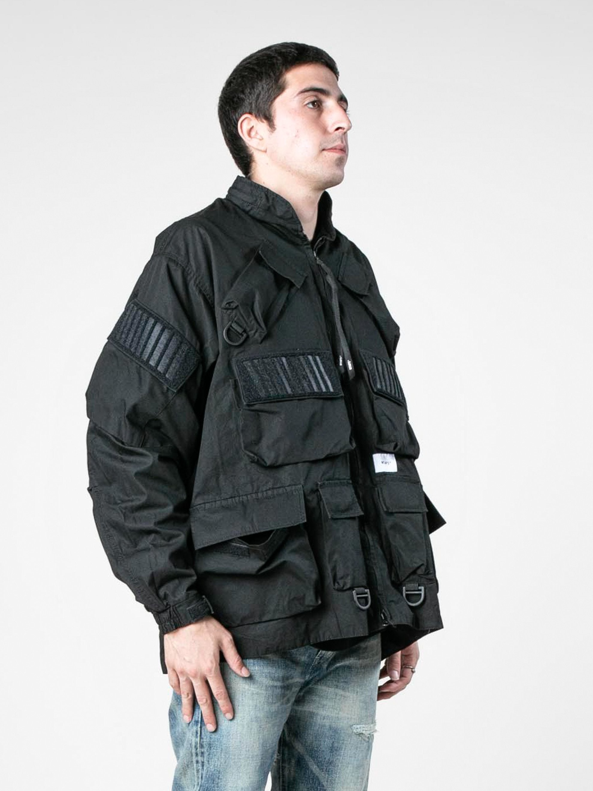 Black Modular / Jacket. Cotton. Weather 4