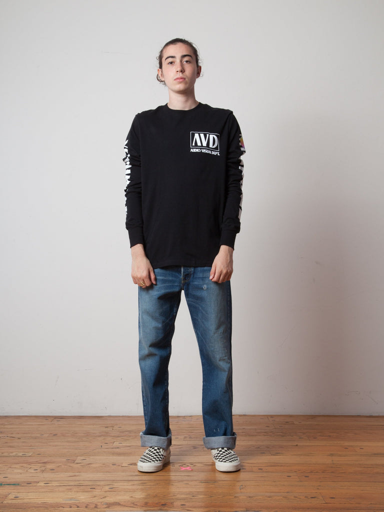 Black AV Dept. Cassette Long Sleeve T-Shirt 222705407241