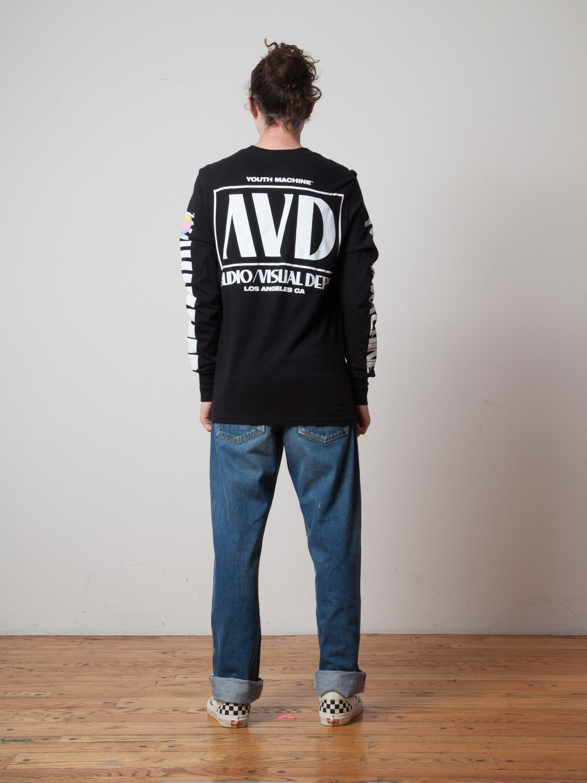 Black AV Dept. Cassette Long Sleeve T-Shirt 3