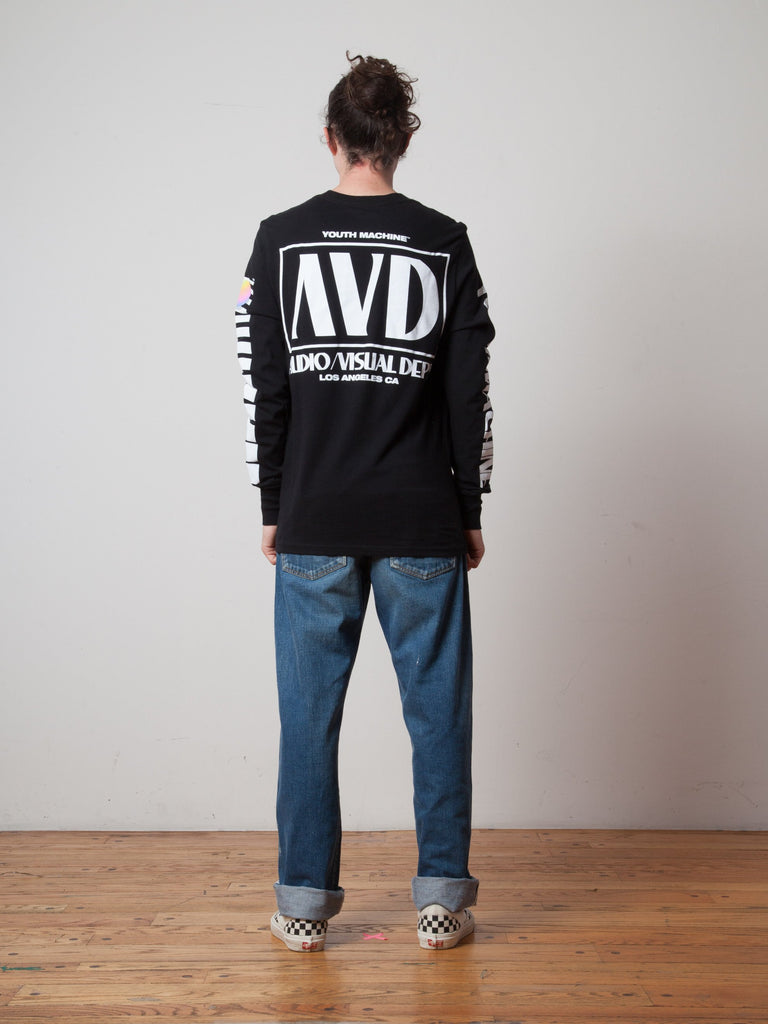 Black AV Dept. Cassette Long Sleeve T-Shirt 322705408201