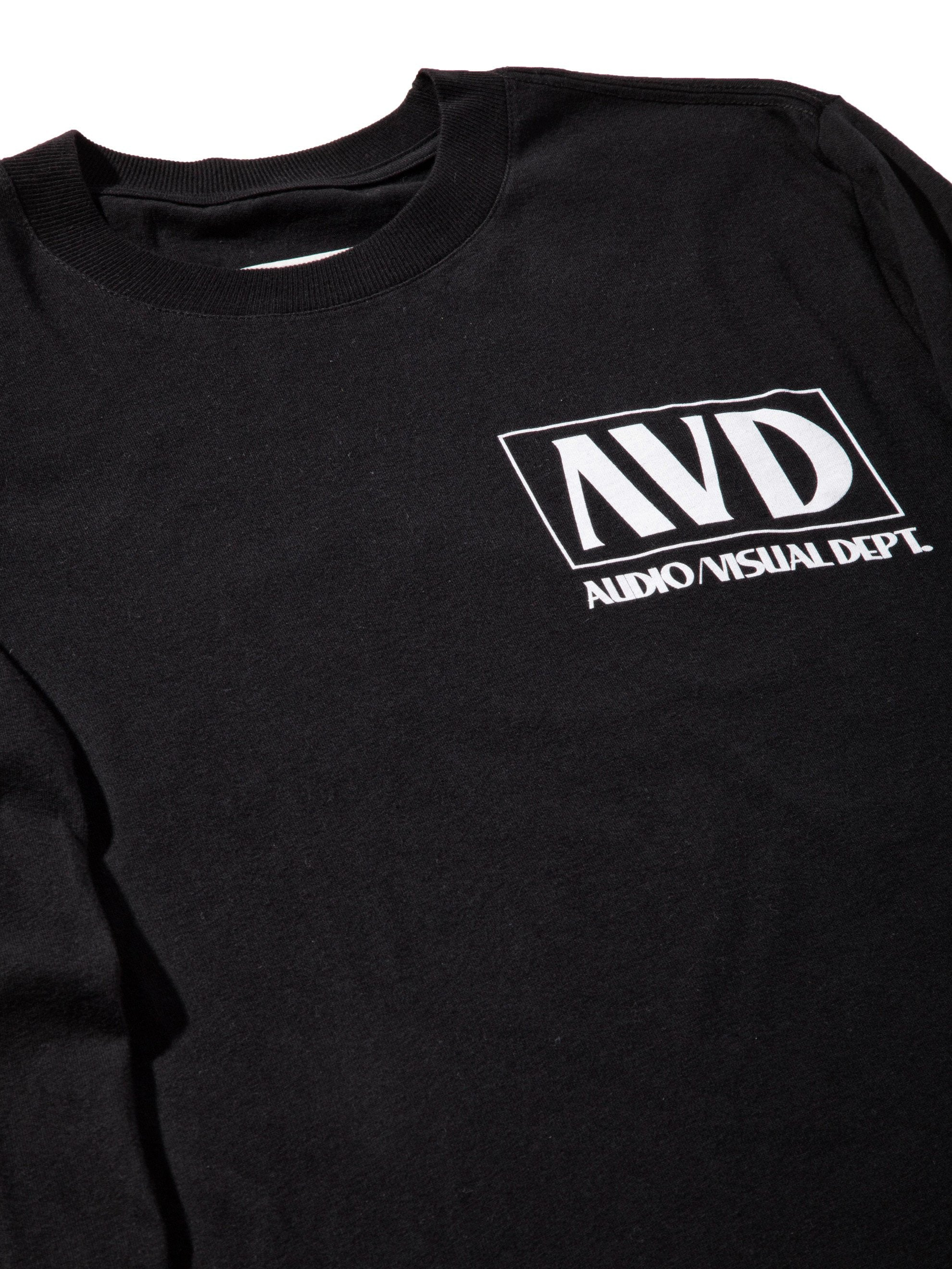 Black AV Dept. Cassette Long Sleeve T-Shirt 7