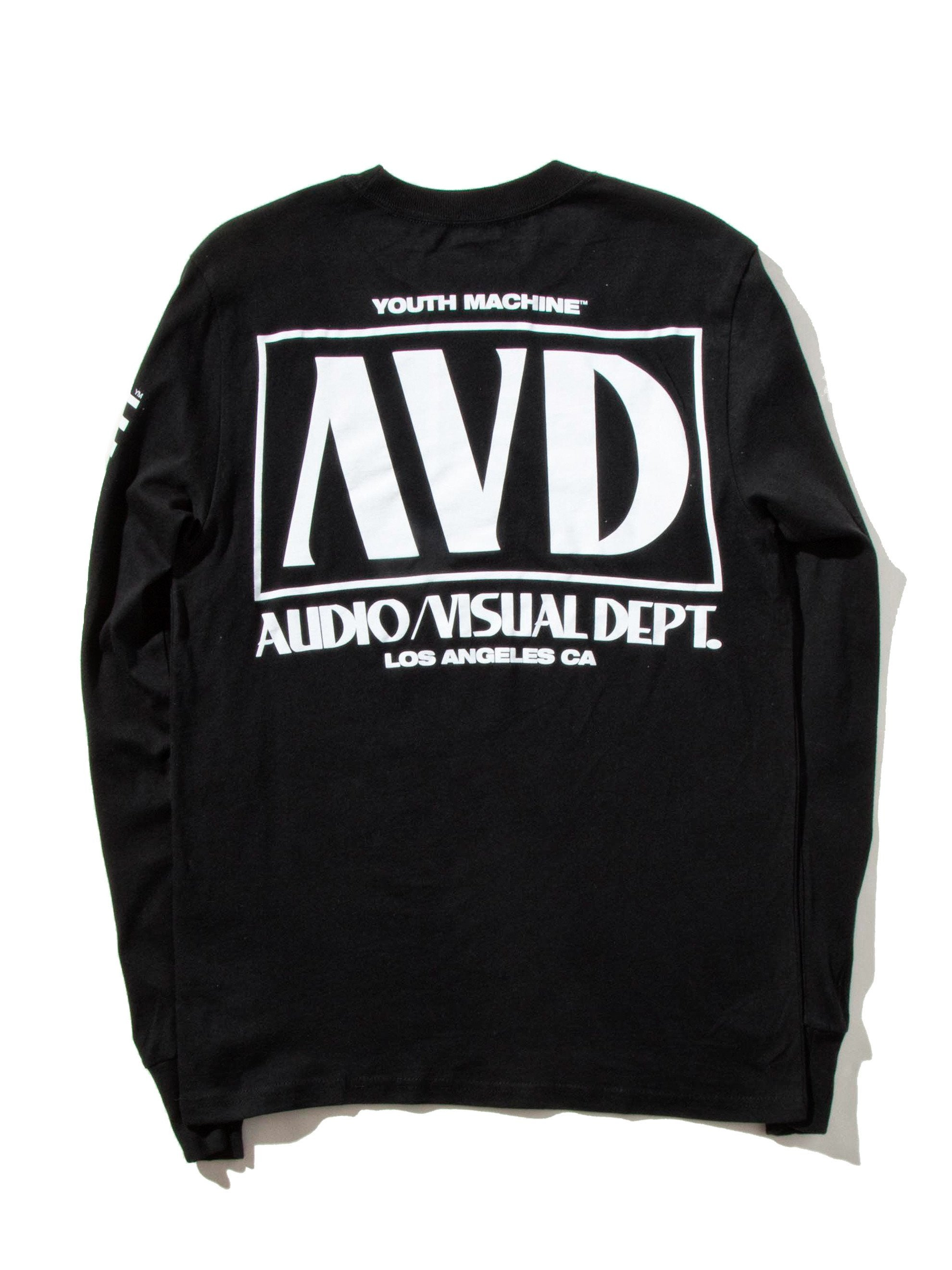 Black AV Dept. Cassette Long Sleeve T-Shirt 9
