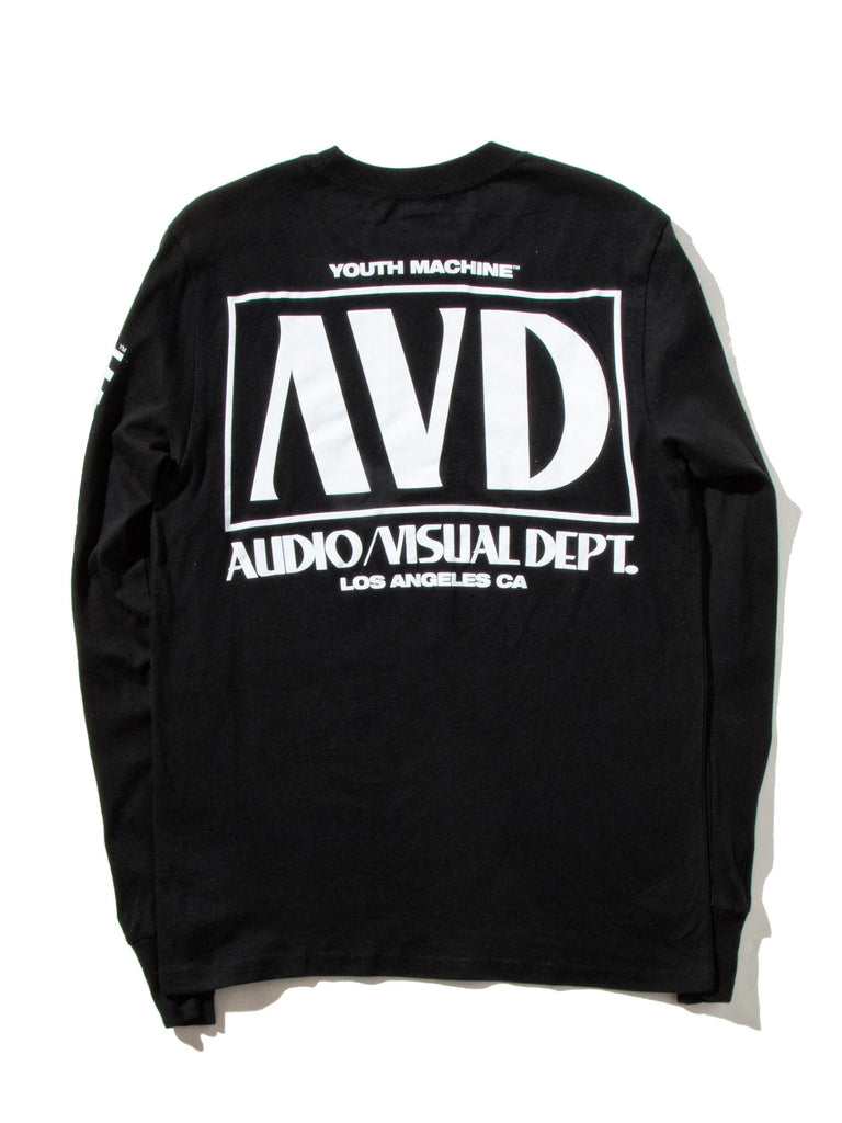 Black AV Dept. Cassette Long Sleeve T-Shirt 922719452873