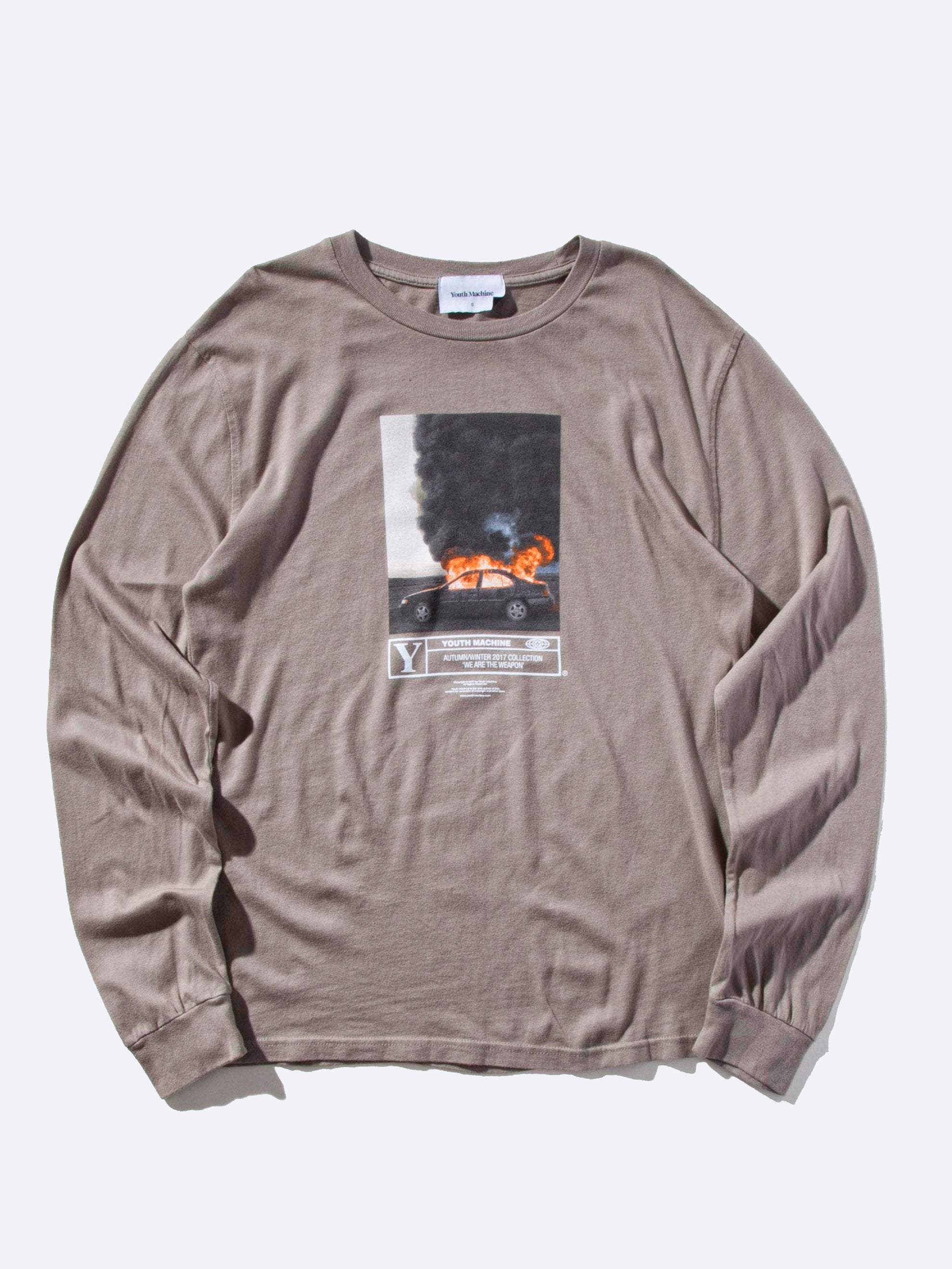 Warm Grey Wildfire Long Sleeve T-Shirt 1