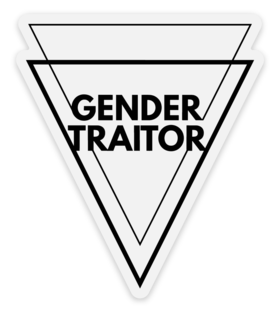Gender Traitor Triangle Sticker