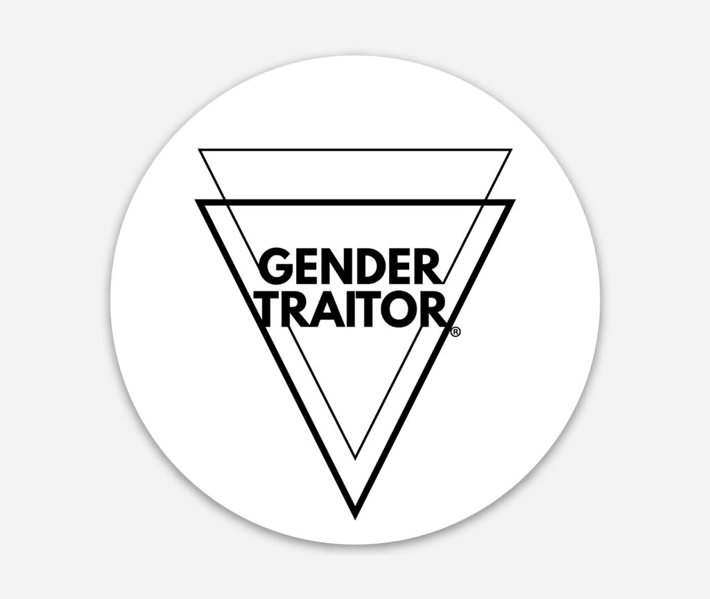 Gender Traitor Circle Sticker