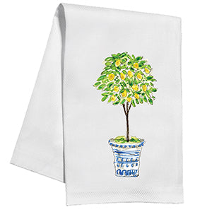 Lemon Tree Topiary Kitchen Towel - The Preppy Bunny