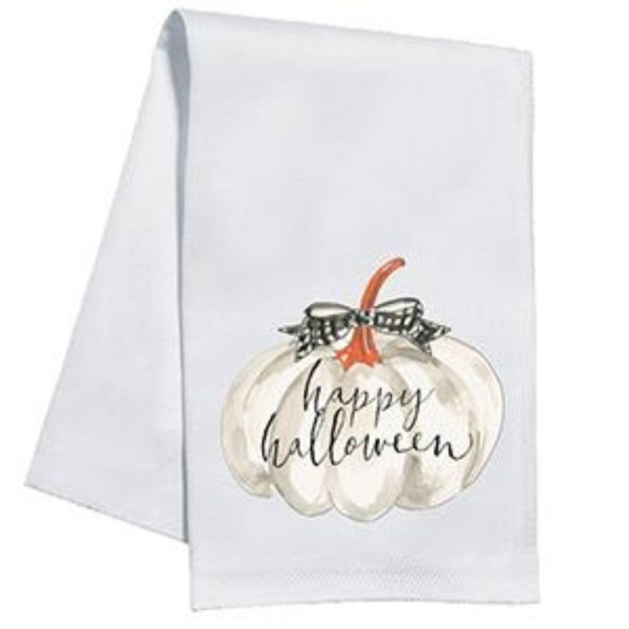 Happy Halloween Gourd and Bow Kitchen Towel - The Preppy Bunny