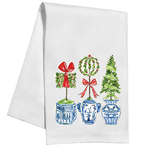 Holiday Topiary Trio Kitchen Towel - The Preppy Bunny