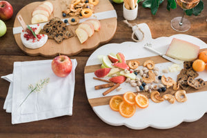 White Mod Pumpkin Charcuterie Board, Large - The Preppy Bunny