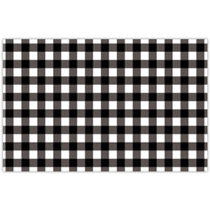 Black Gingham Paper Placemats - The Preppy Bunny