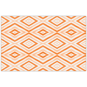 Halloween Orange Diamonds Paper Placemats - The Preppy Bunny