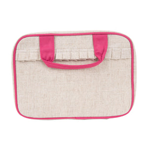 Linen Carolina Cosmetic Bag - The Preppy Bunny
