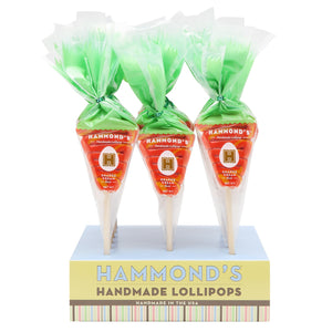 Easter Carrot Orange Cream Lollipop - The Preppy Bunny