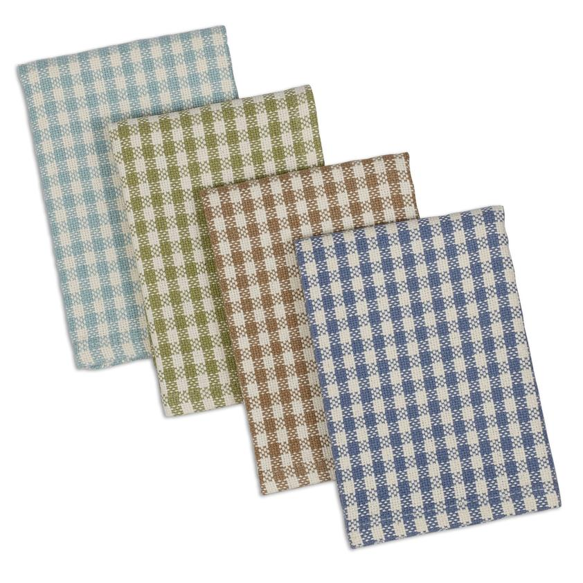 Lake House Check Heavyweight Dishcloth Set of 4 - The Preppy Bunny