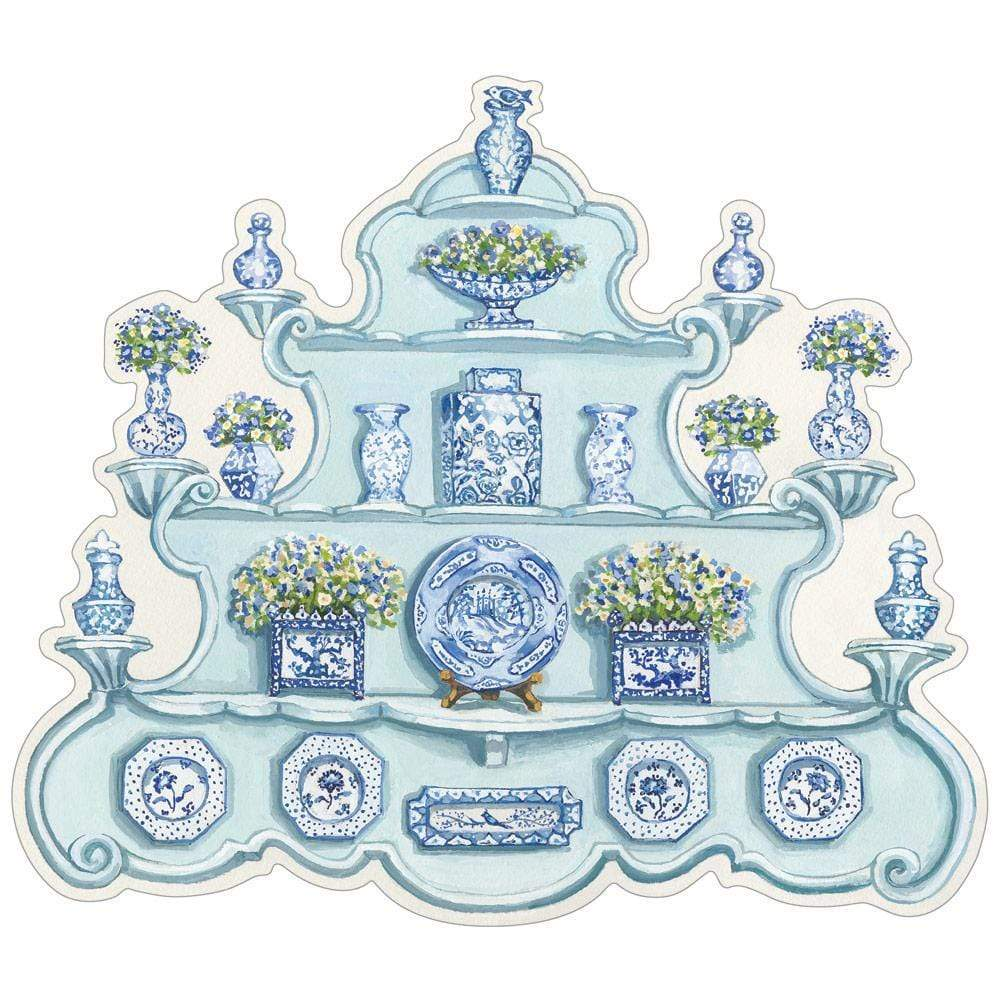 China Cabinet Die-cut Placemat - Sold individually - The Preppy Bunny