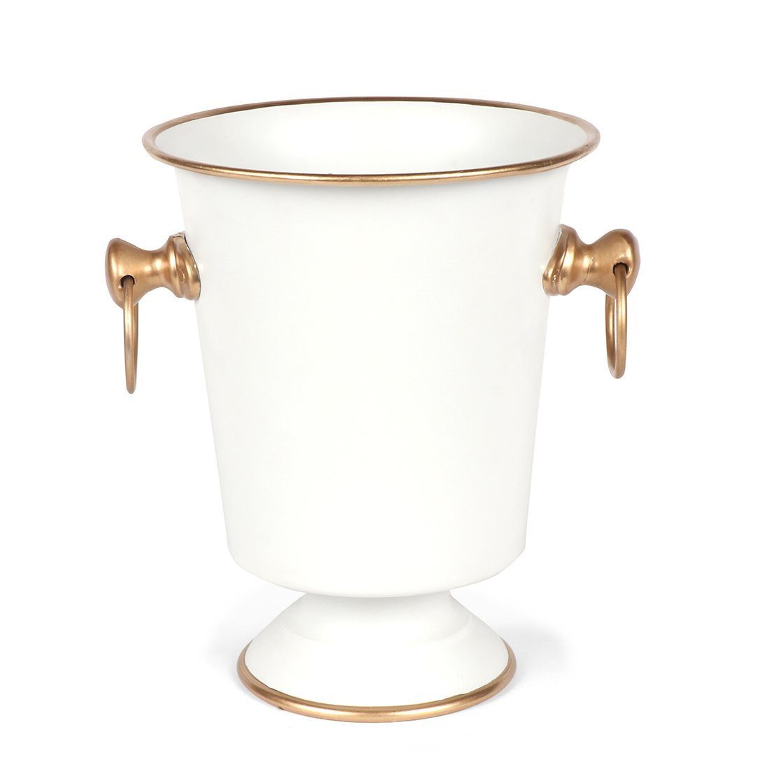 White and Gold Ice Bucket - The Preppy Bunny