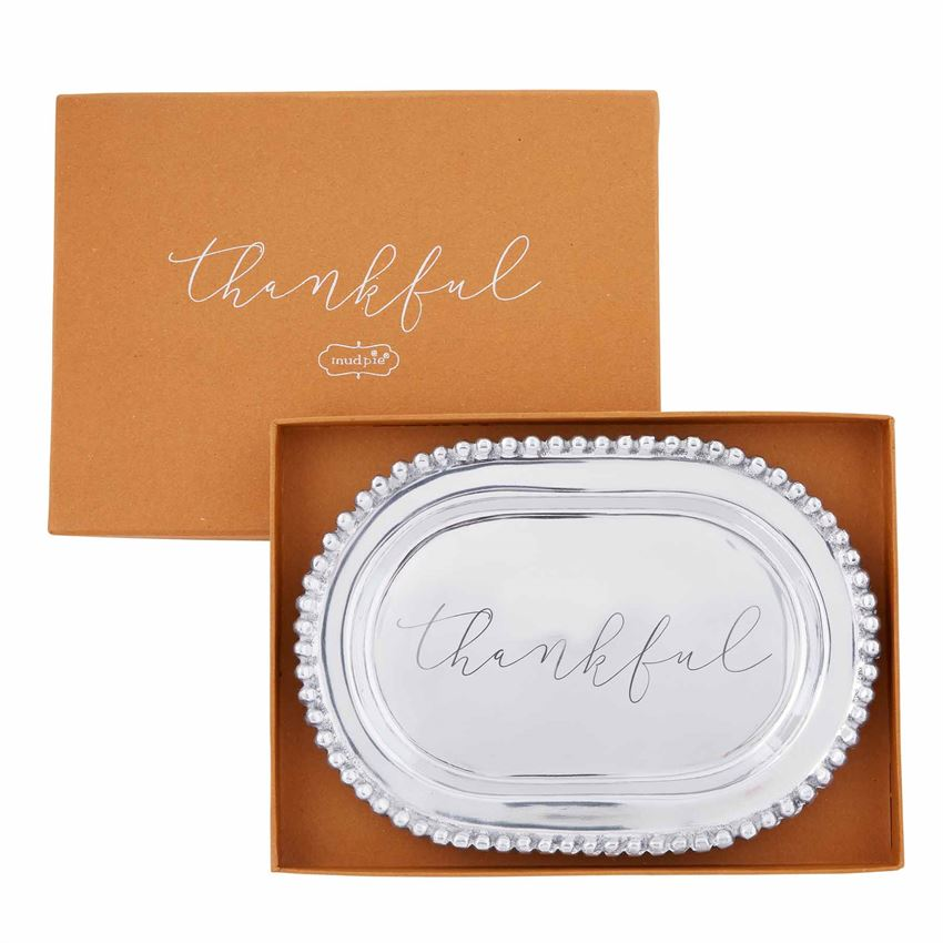 Thankful Beaded Platter - The Preppy Bunny
