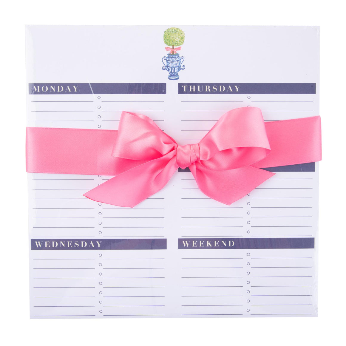 Pink Topiary Weekly Planner - The Preppy Bunny