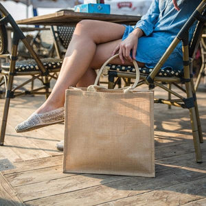 Monogram Jute Market Tote - The Preppy Bunny