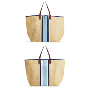 Santorini Jute Tote - two styles available - The Preppy Bunny