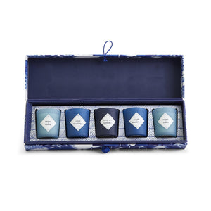 Blue Willow set of 5 Candles in Box - The Preppy Bunny