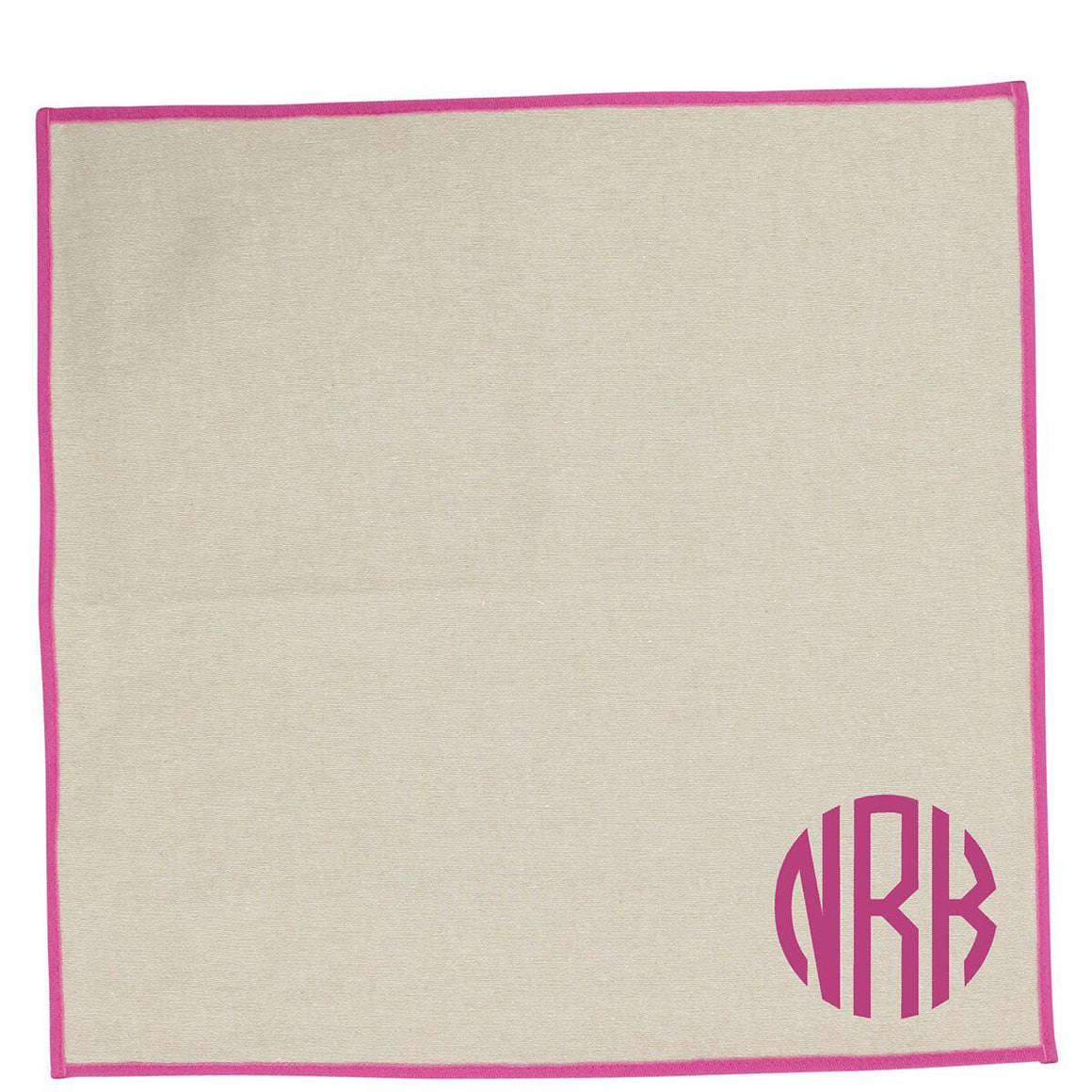 Jute Dinner Napkins Pink Trim Set of 4 - The Preppy Bunny