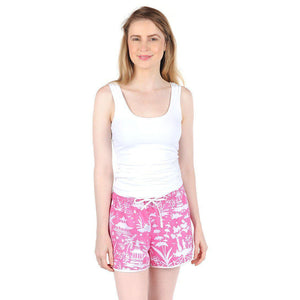 Shanghai Pink Sateen Women's Boxers - The Preppy Bunny