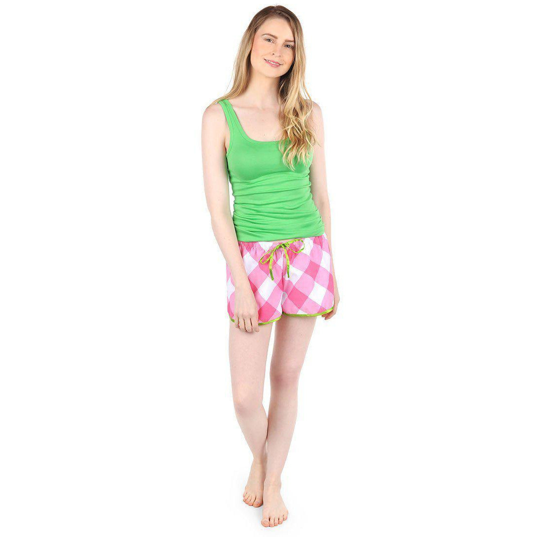 Pink Buffalo Sateen Women's Boxers - The Preppy Bunny
