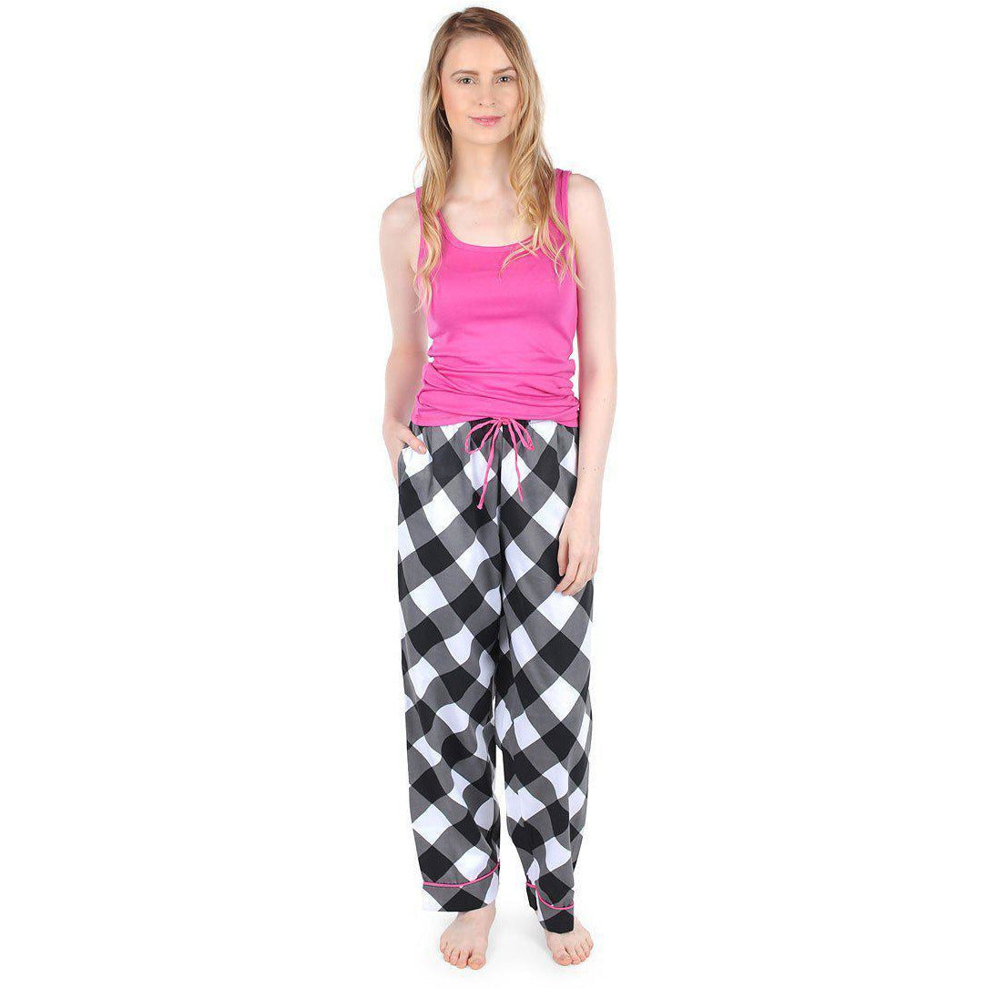 Buffalo Check Women's Lounge Pant Monogrammed - The Preppy Bunny