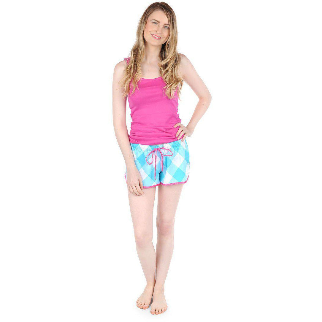 Turquoise Buffalo Sateen Women's Boxers - The Preppy Bunny