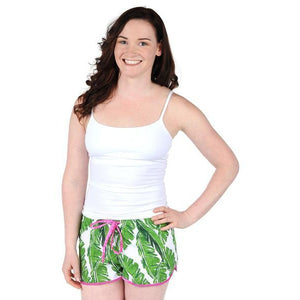 Banana Leaf Women's Pajama Boxers - The Preppy Bunny