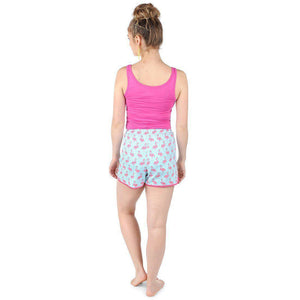 Flamingo Cabana Sateen Women's Boxers - The Preppy Bunny